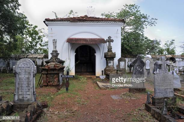 Graveyard in Our Lady Of Compassion church in Old Goa, India