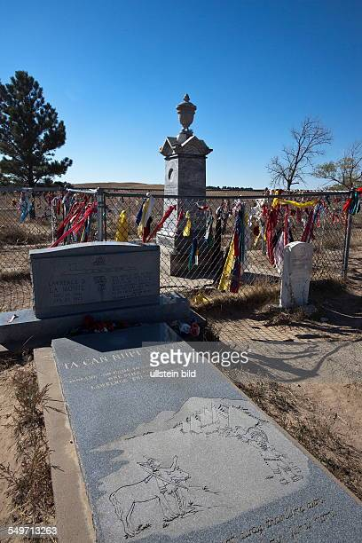 graveyard in Wounded Knee as memorial of the massacre in December 1890 South Dakota USA