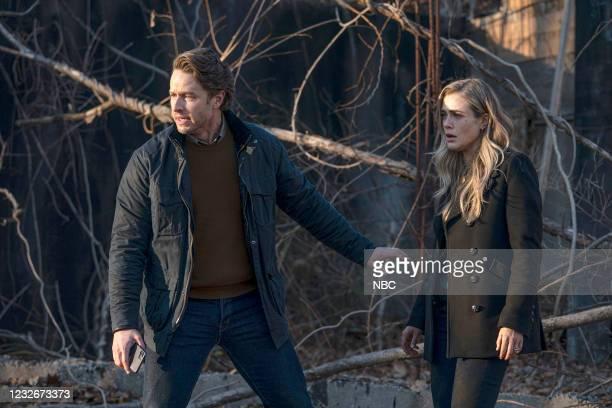 "Graveyard Spiral"" Episode 306 -- Pictured: Josh Dallas as Ben Stone, Melissa Roxburgh as Michaela Stone --"