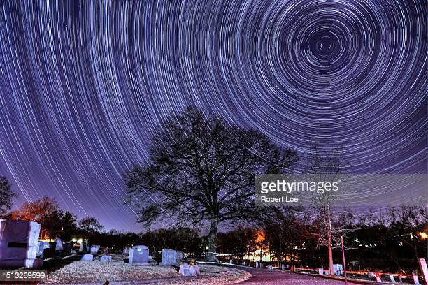 Graveyard star trails