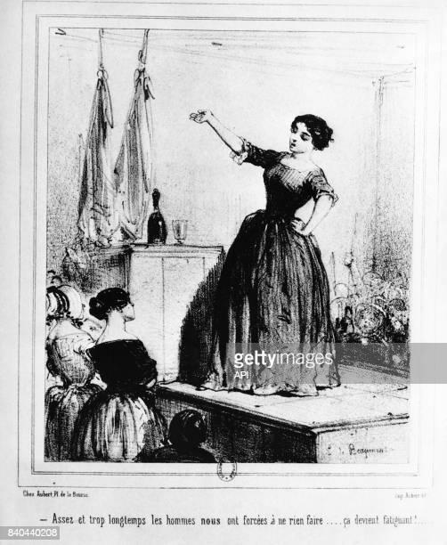 Gravure féministe du XIXè siècle réalisée vers 1848