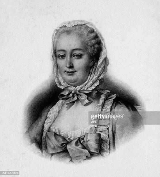 Gravure représentant JeanneAntoinette Poisson marquise de Pompadour