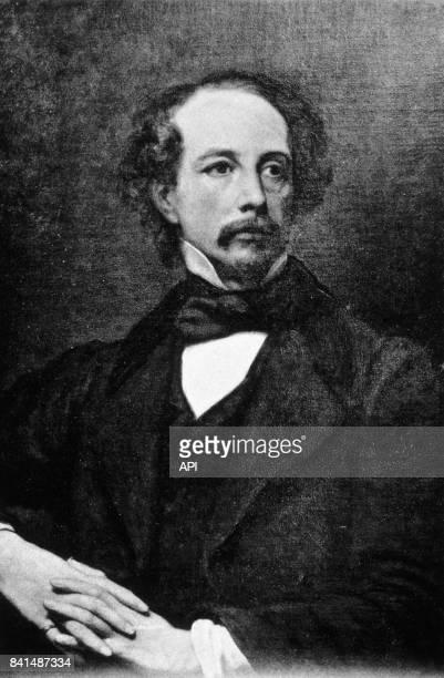 Gravure représentant l'écrivain anglais Charles Dickens