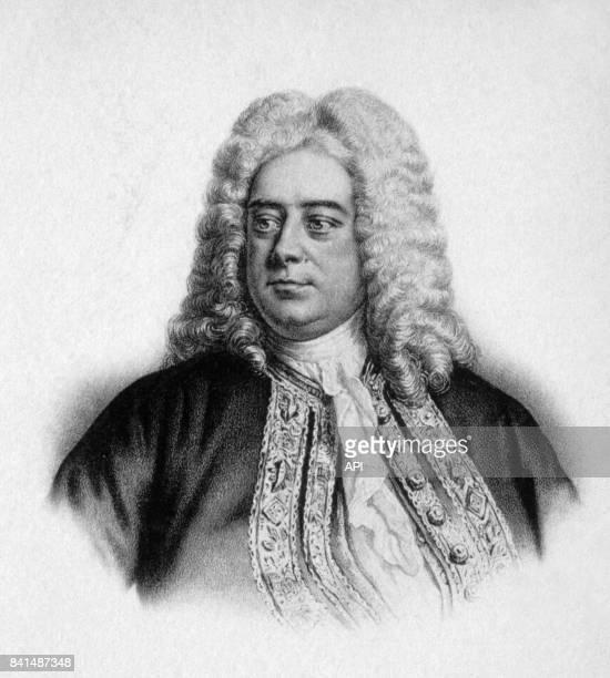 Gravure représentant le compositeur allemand Georg Friedrich Haendel