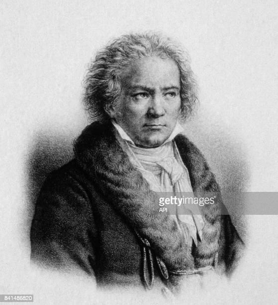 Gravure représentant le compositeur allemand Ludwig van Beethoven
