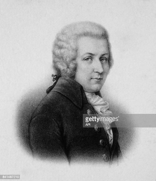 Gravure représentant le compositeur autrichien Wolfgang Amadeus Mozart
