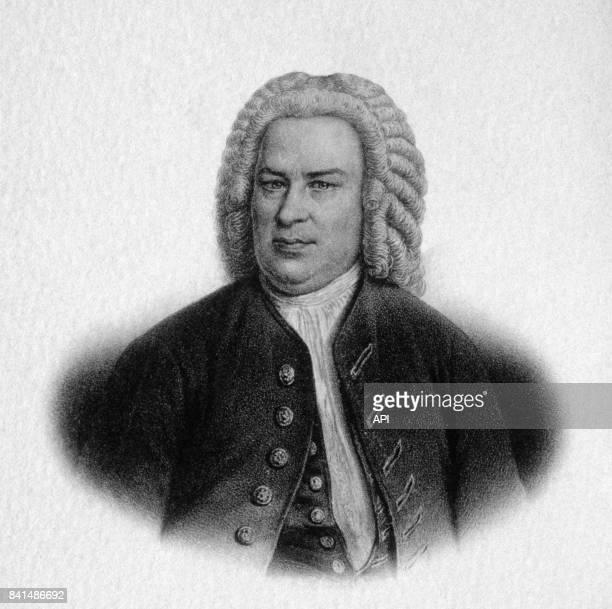 Gravure représentant le compositeur et organiste allemand JeanSébastien Bach