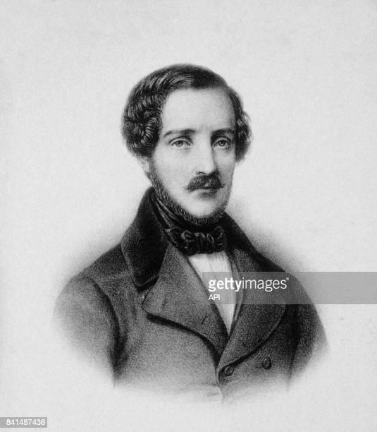 Gravure représentant le compositeur italien Gaetano Donizetti