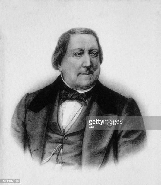 Gravure représentant le compositeur italien Gioachino Rossini