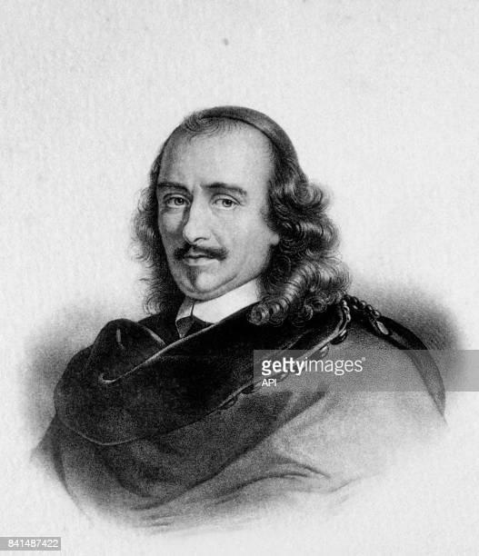 Gravure représentant le dramaturge et poète français Pierre Corneille