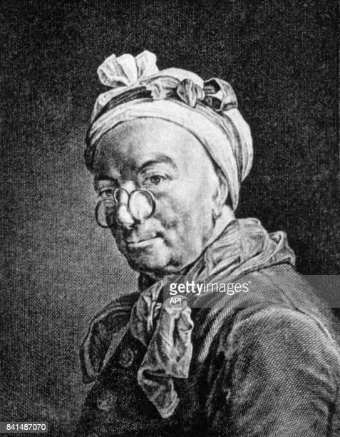 Gravure représentant le peintre français Jean Siméon Chardin