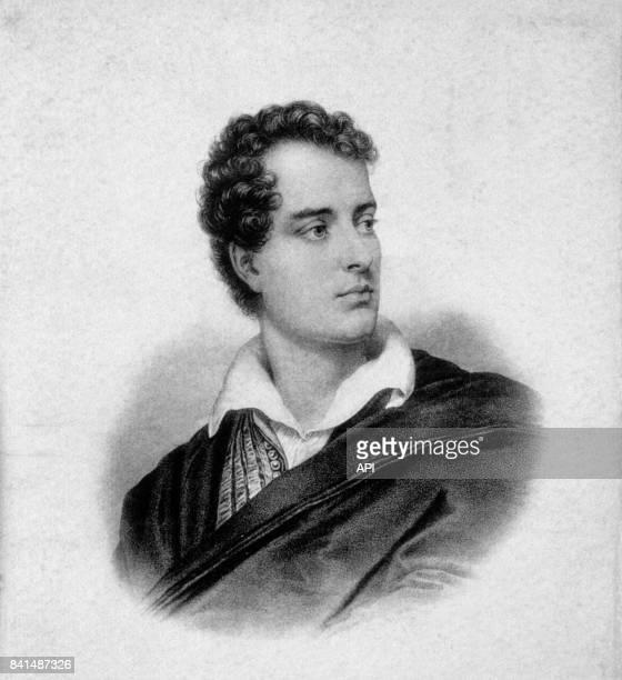 Gravure représentant le poète britannique Lord Byron