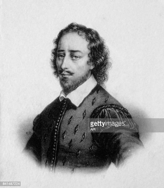Gravure représentant le poète et dramaturge anglais William Shakespeare