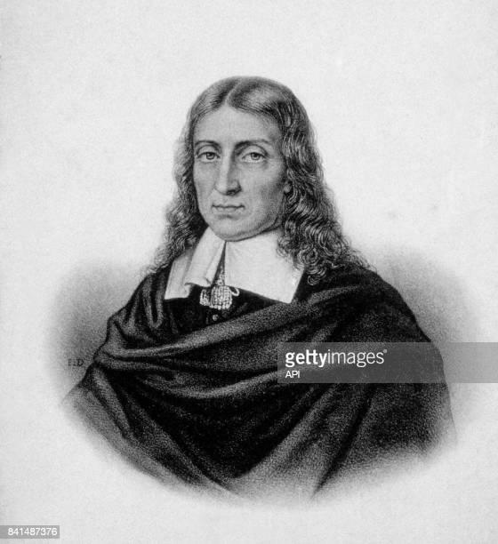 Gravure représentant le poète et pamphlétaire anglais John Milton