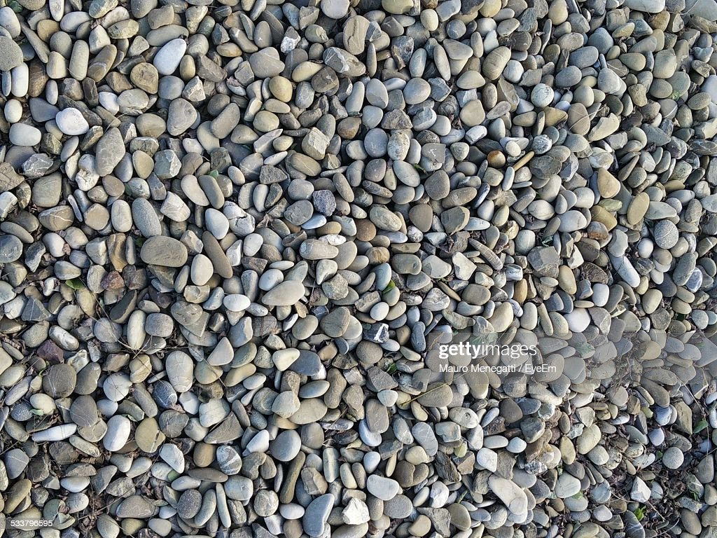 Gray And Beige Small Pebbles : Foto stock