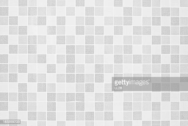 Gray and white checkered mosaic texture background