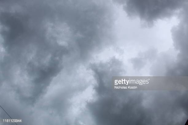 gray and white clouds - smog stock pictures, royalty-free photos & images