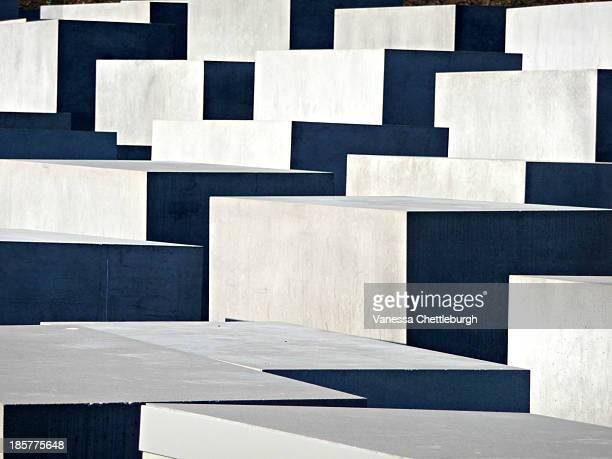 Gray concrete squares, symmetrical