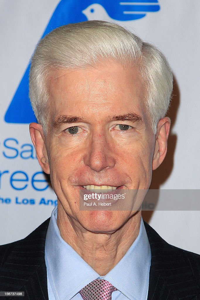 Gray Davis, Former Governor of California, arrives at The Saban Free Clinic's Gala Honoring ABC Entertainment Group President Paul Lee and Bob Broder at The Beverly Hilton Hotel on November 19, 2012 in Beverly Hills, California.