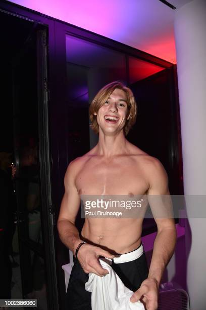 Gray Eberley attends Brian Feit's 40th Birthday Party at 550 West 29th Street on July 19 2018 in New York City