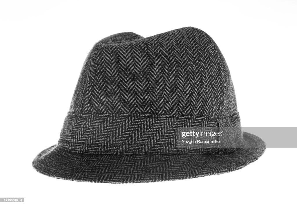 a1fdabbe5b928 Gray felt hat isolated on white background   Stock Photo