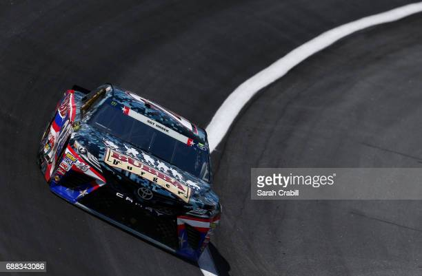 Gray Gaulding driver of the Bubba Burger Toyota practices for the Monster Energy NASCAR Cup Series CocaCola 600 at Charlotte Motor Speedway on May 25...