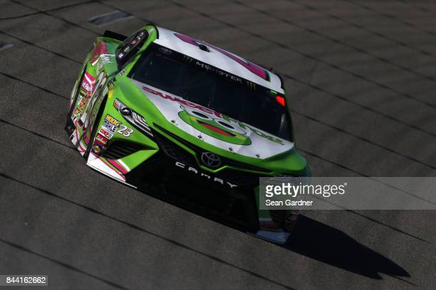 Gray Gaulding driver of the sweetfrog Toyota practices for the Monster Energy NASCAR Cup Series Federated Auto Parts 400 at Richmond International...