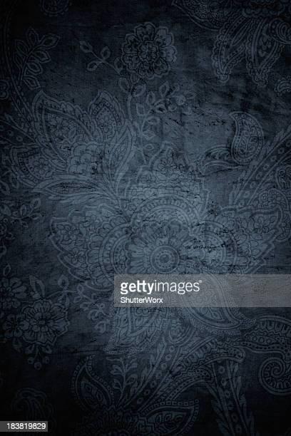 Gray Grunge Paisley Background