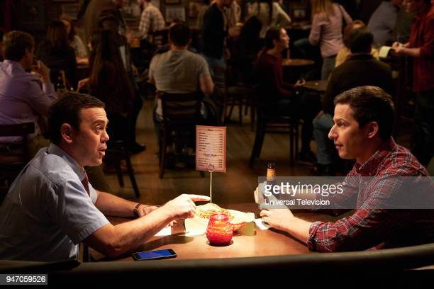 NINE 'Gray Star Mutual' Episode 517 Pictured Joe Lo Truglio as Charles Boyle Andy Samberg as Jake Peralta