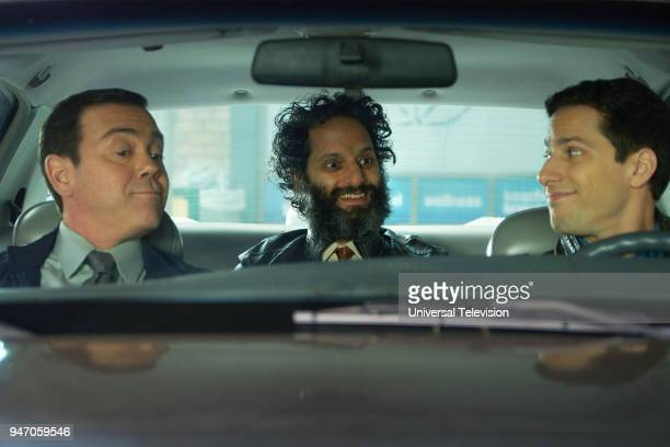 NINE 'Gray Star Mutual' Episode 517 Pictured Joe Lo Truglio as Charles Boyle Jason Mantzoukas as Adrian Pimento Andy Samberg as Jake Peralta