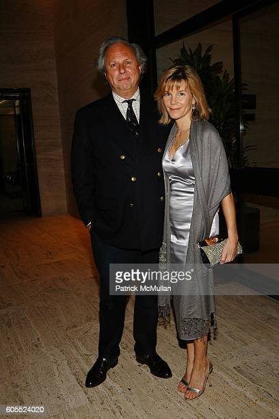 Graydon Carter and Anna Scott Carter attend DIOR 2007 Cruise Collection Dinner Party hosted by Bernard Arnault and Sidney Toledano at The Four...
