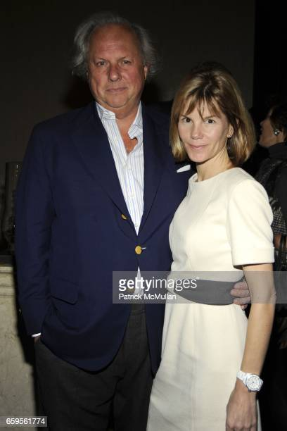 Graydon Carter and Anna Scott Carter attend Gwyneth Paltrow and VBH's Bruce Hoeksema Host Cocktail Party for Valentino The Last Emperor at VBH on...