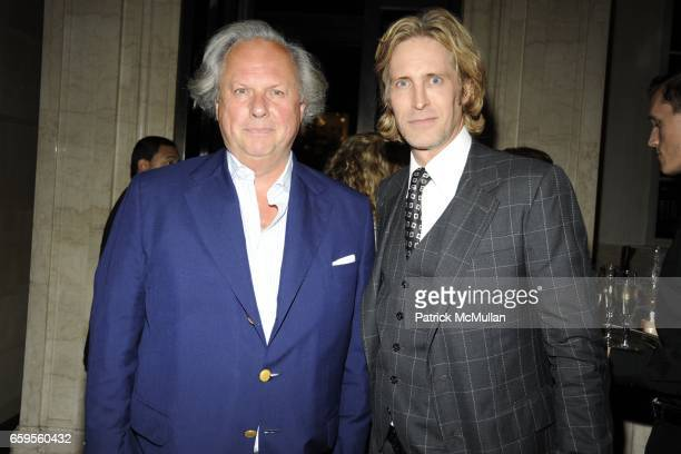 Graydon Carter and Bruce Hoeksema attend Gwyneth Paltrow and VBH's Bruce Hoeksema Host Cocktail Party for Valentino The Last Emperor at VBH on...