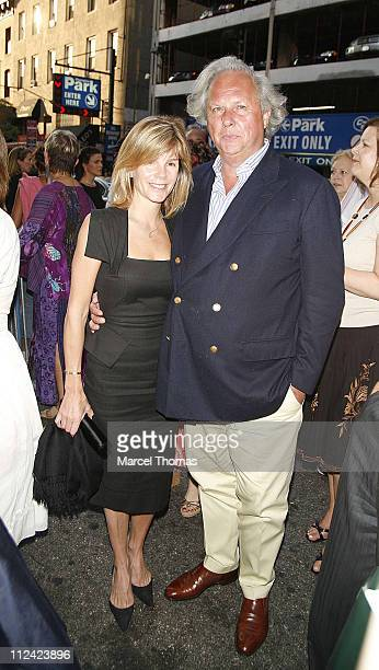 """Graydon Carter and Guest during """"Martin Short: Fame Becomes Me"""" Broadway Opening Night - Arrivals at Bernard B. Jacobs Theatre in New York, New York,..."""