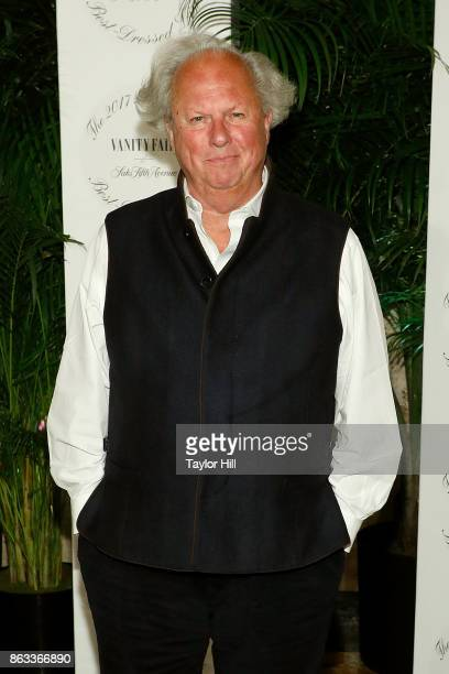 Graydon Carter attends the Vanity Fair And Saks Fifth Avenue 2017 International BestDressed List Party at Academy Mansion on October 19 2017 in New...