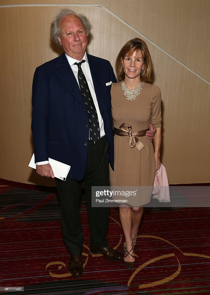 Graydon Carter(L) of Vanity Fair and Anna Scott attend the 2014 National Magazine Awards at The New York Marriott Marquis on May 1, 2014 in New York City