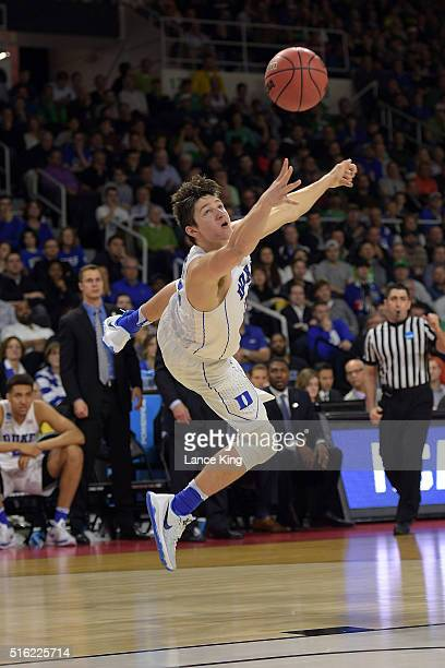Grayson Allen of the Duke Blue Devils puts up a shot against the North Carolina-Wilmington Seahawks during the first round of the 2016 NCAA Men's...