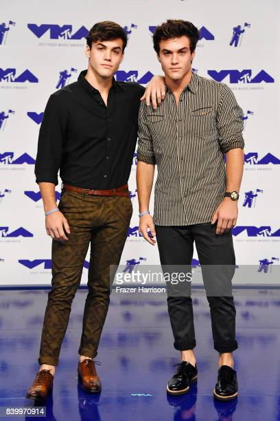 Grayson Dolan and Ethan Dolan attend the 2017 MTV Video Music Awards at The Forum on August 27 2017 in Inglewood California