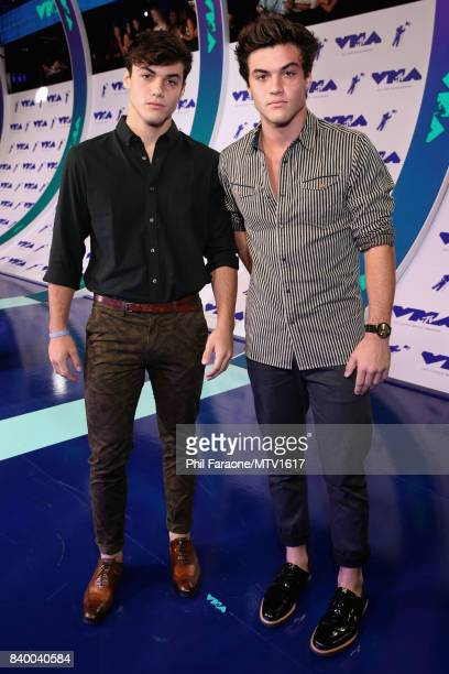 Grayson Dolan and Ethan Dolan during the 2017 MTV Video Music Awards at The Forum on August 27 2017 in Inglewood California