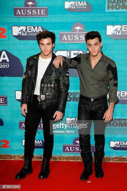 Grayson Dolan and Ethan Dolan of The Dolan Twins attend the MTV EMAs 2017 held at The SSE Arena Wembley on November 12 2017 in London England
