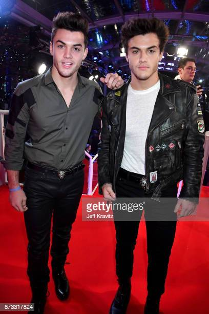 Grayson Dolan and Ethan Dolana of The Dolan Twins attend the MTV EMAs 2017 held at The SSE Arena Wembley on November 12 2017 in London England