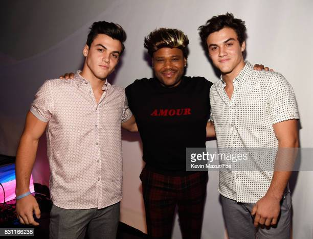 Grayson Dolan Anthony Anderson and Ethan Dolan attend Teen Choice Awards 2017 at Galen Center on August 13 2017 in Los Angeles California