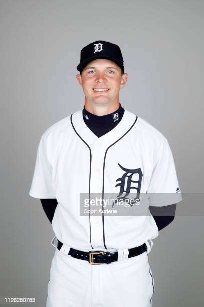 Grayson Greiner of the Detroit Tigers poses during Photo Day on Tuesday February 19 2019 at Publix Field at Joker Marchant Stadium in Lakeland Florida