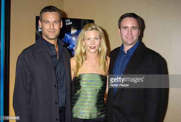 Grayson McCouch Amy Locaine and James Seale during E5 Special Screening at UA Battery Park Stadium in New York City New York United States
