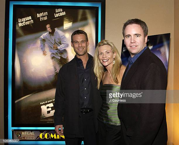 Grayson McCouch Amy Locane and James Seale during E5 Special Screening at UA Battery Park Stadium in New York City New York United States