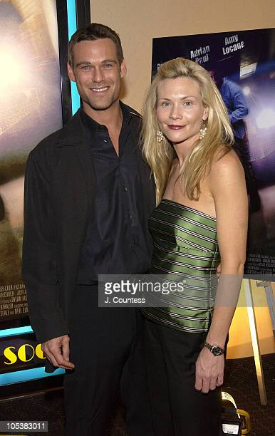 Grayson McCouch and Amy Locane during E5 Special Screening at UA Battery Park Stadium in New York City New York United States