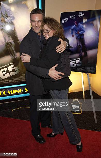 Grayson McCouch and Elizabeth Ashley during E5 Special Screening at UA Battery Park Stadium in New York City New York United States