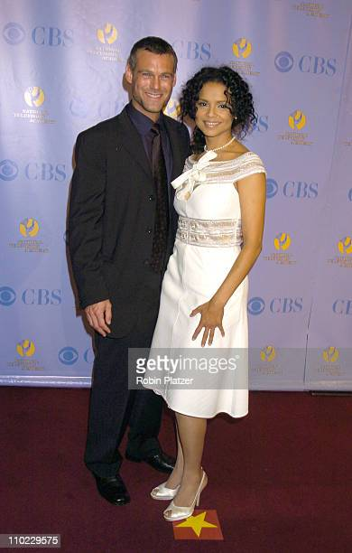 Grayson McCouch and Victoria Rowell during 32nd Annual Daytime Emmy Awards Media Press Room at Radio City Music Hall in New York New York United...