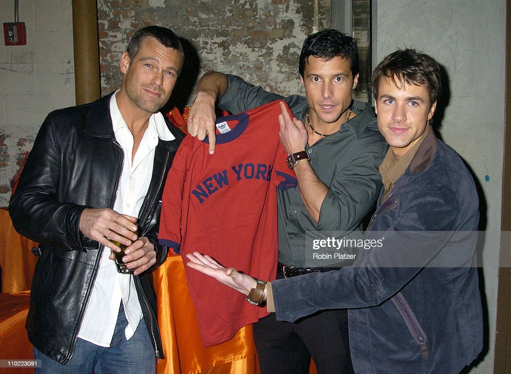 """Party for The Hot Men of CBS Guiding Light and As The World Turns which was filmed for David Tuteras Discovery Channel Show """"The : News Photo"""