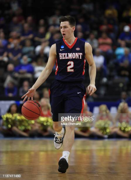 Grayson Murphy of the Belmont Bruins during the first round of the 2019 NCAA Men's Basketball Tournament at VyStar Jacksonville Veterans Memorial...